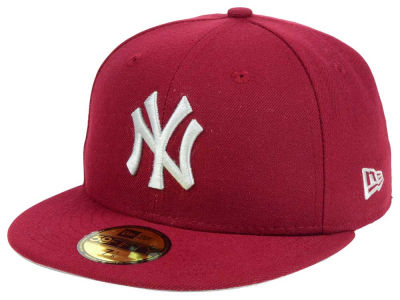 New York Yankees MLB Cardinal Gray 59FIFTY Cap Hats