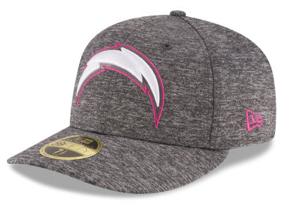Los Angeles Chargers NFL Breast Cancer Awareness Low Profile 59FIFTY Cap Hats