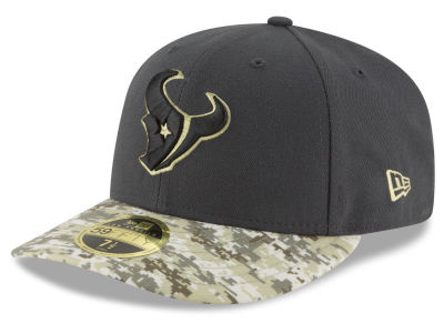 Houston Texans NFL Salute to Service Low Profile 59FIFTY Cap Hats