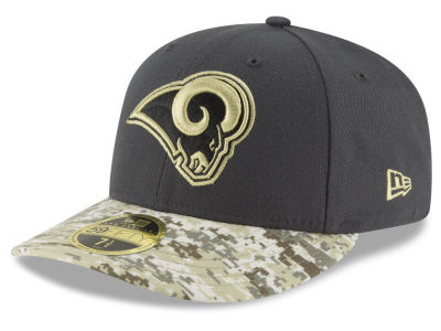 Los Angeles Rams NFL Salute to Service Low Profile 59FIFTY Cap Hats