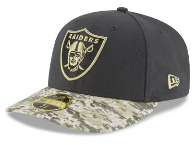 Oakland Raiders NFL Salute to Service Low Profile 59FIFTY Cap Hats