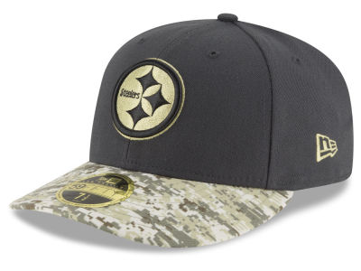 Pittsburgh Steelers NFL Salute to Service Low Profile 59FIFTY Cap Hats
