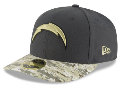 San Diego Chargers NFL Salute to Service Low Profile 59FIFTY Cap Hats