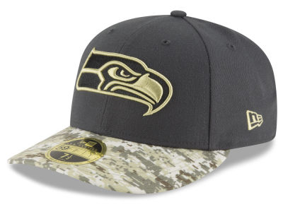 Seattle Seahawks NFL Salute to Service Low Profile 59FIFTY Cap Hats