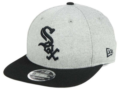 Chicago White Sox MLB Black on Grey Textured 9FIFTY Snapback Cap Hats
