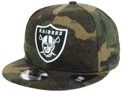 Oakland Raiders NFL Camo Melton 9FIFTY Snapback Cap Hats