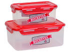 Ohio State Buckeyes 2 Piece Snack Lock Storage Set Kitchen & Bar