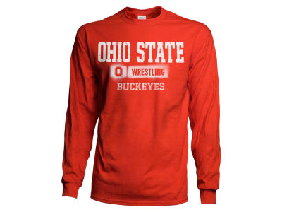J America NCAA Men's Airbrush Wrestling Long Sleeve T-Shirt