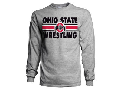 J America NCAA Men's Striped Wrestling Long Sleeve T-Shirt