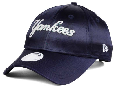 New York Yankees MLB Satin Team Charmer 9FORTY Strapback Cap Hats