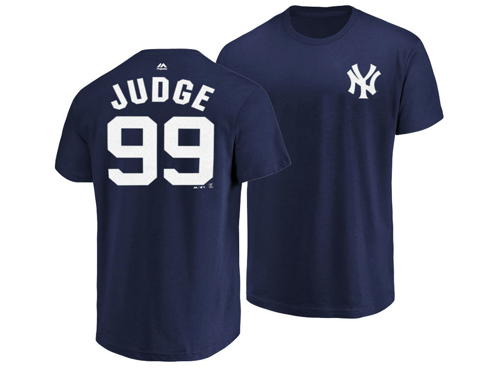 5966b07a482 50%OFF New York Yankees Aaron Judge Majestic MLB Men s Official Player T- Shirt