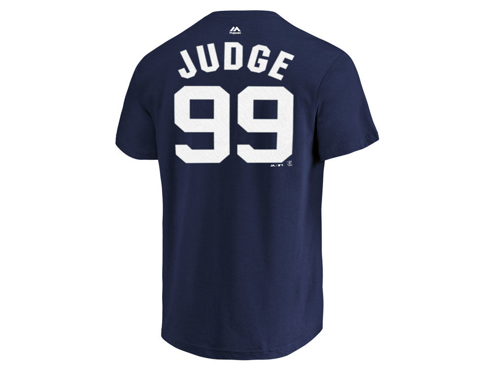4b13688ba08 50%OFF New York Yankees Aaron Judge Majestic MLB Men s Official Player T- Shirt.