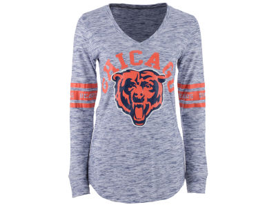 Chicago Bears NFL Women's Space Dye Long Sleeve T-Shirt