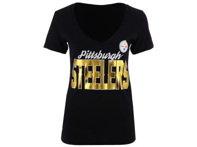 Pittsburgh Steelers NFL Women's Checkdown Foil T-Shirt