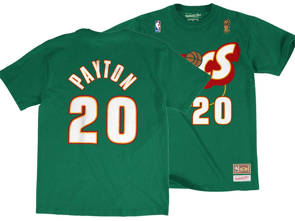 e17b0794d58 good Seattle SuperSonics Gary Payton Mitchell and Ness NBA Men s Hardwood  Classic Player T-Shirt