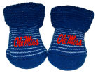 Ole Miss Rebels NCAA Stripe Gift Box Booties Apparel & Accessories