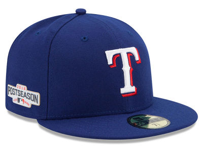 Texas Rangers MLB 2016 Post Season Authentic Collection Patch 59FIFTY Cap Hats