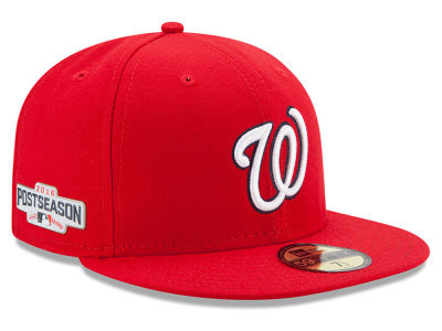Washington Nationals MLB 2016 Post Season Authentic Collection Patch 59FIFTY Cap Hats