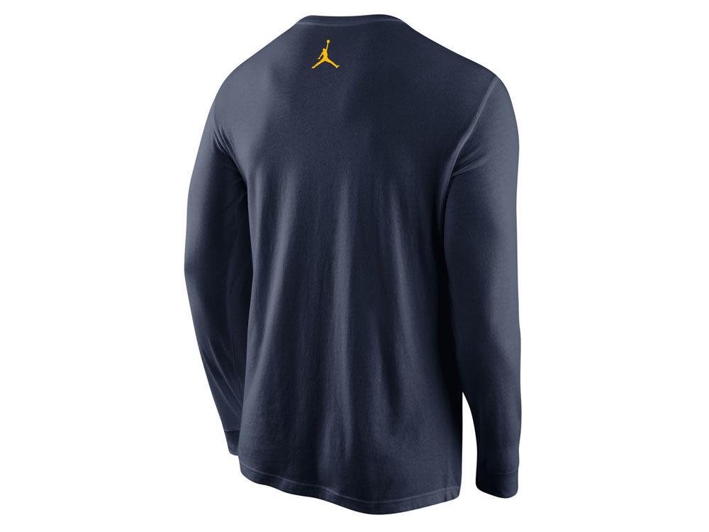 e8ecb4fd543 Michigan Wolverines Nike NCAA Men s Re2pect Is Earned Long Sleeve T-Shirt  high-quality.