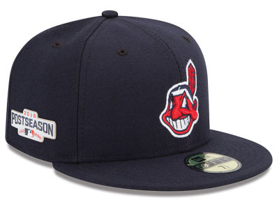 Cleveland Indians MLB 2016 Post Season Authentic Collection Patch 59FIFTY Cap Hats