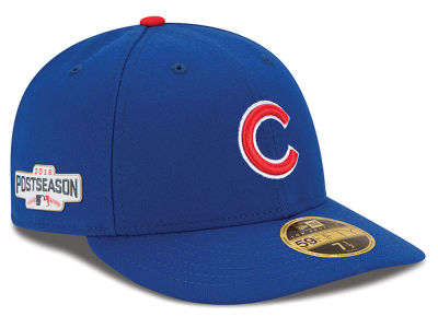 Chicago Cubs MLB 2016 Post Season Authentic Collection Patch 59FIFTY Cap Hats