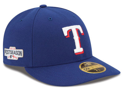 Texas Rangers Low Profile MLB 2016 Post Season Authentic Collection Patch 59FIFTY Cap Hats