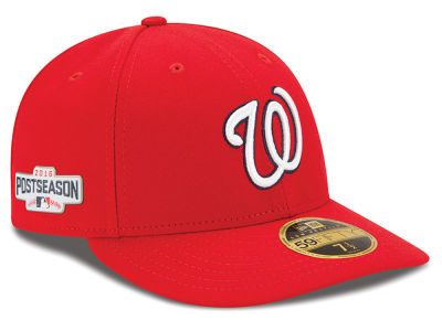 Washington Nationals Low Profile MLB 2016 Post Season Authentic Collection Patch 59FIFTY Cap Hats