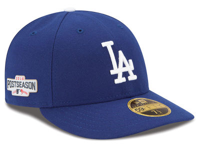 Los Angeles Dodgers Low Profile MLB 2016 Post Season Authentic Collection Patch 59FIFTY Cap Hats