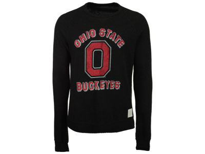 NCAA Men's Retro Vintage Buckeye Leaf Quad Crew Sweatshirt