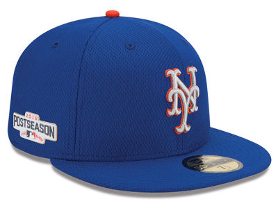 New York Mets MLB 2016 Post Season Authentic Collection Patch 59FIFTY Cap Hats