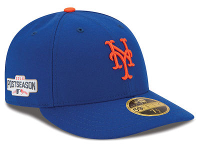 New York Mets Low Profile MLB 2016 Post Season Authentic Collection Patch 59FIFTY Cap Hats