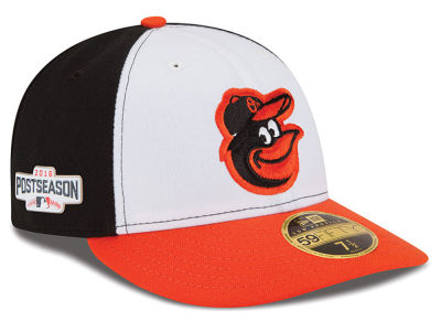 Baltimore Orioles Low Profile MLB 2016 Post Season Authentic Collection Patch 59FIFTY Cap Hats