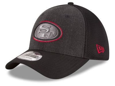 San Francisco 49ers NFL Black Heather Neo 39THIRTY Cap Hats