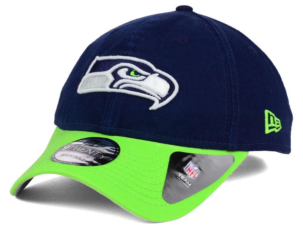 size 40 40d4b 52c73 Seattle Seahawks New Era NFL Relaxed 2Tone 9TWENTY Strapback Cap good -  timmen.nl