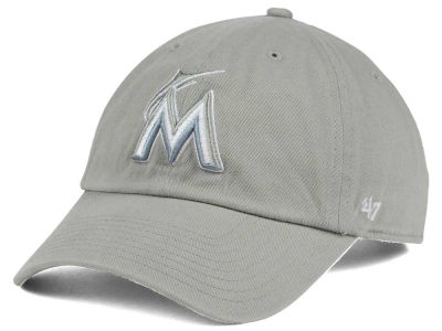 new style miami marlins 47 mlb white white 47 clean up cap