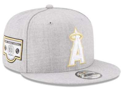 Los Angeles Angels MLB Heather Metallic Patch 9FIFTY Snapback Cap Hats