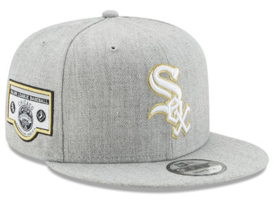Chicago White Sox MLB Heather Metallic Patch 9FIFTY Snapback Cap Hats
