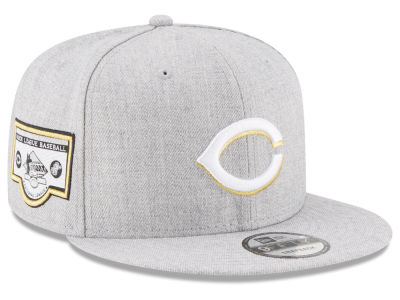 Cincinnati Reds MLB Heather Metallic Patch 9FIFTY Snapback Cap Hats