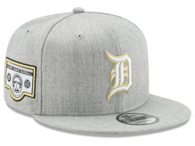 Detroit Tigers MLB Heather Metallic Patch 9FIFTY Snapback Cap Hats