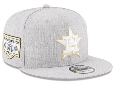 Houston Astros MLB Heather Metallic Patch 9FIFTY Snapback Cap Hats