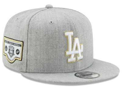 Los Angeles Dodgers MLB Heather Metallic Patch 9FIFTY Snapback Cap Hats