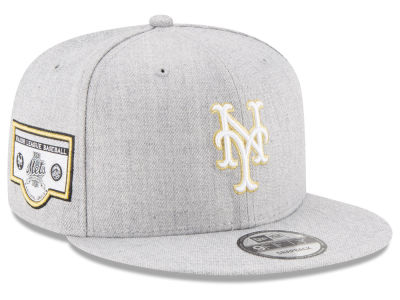 New York Mets MLB Heather Metallic Patch 9FIFTY Snapback Cap Hats