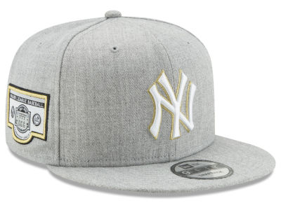 New York Yankees MLB Heather Metallic Patch 9FIFTY Snapback Cap Hats