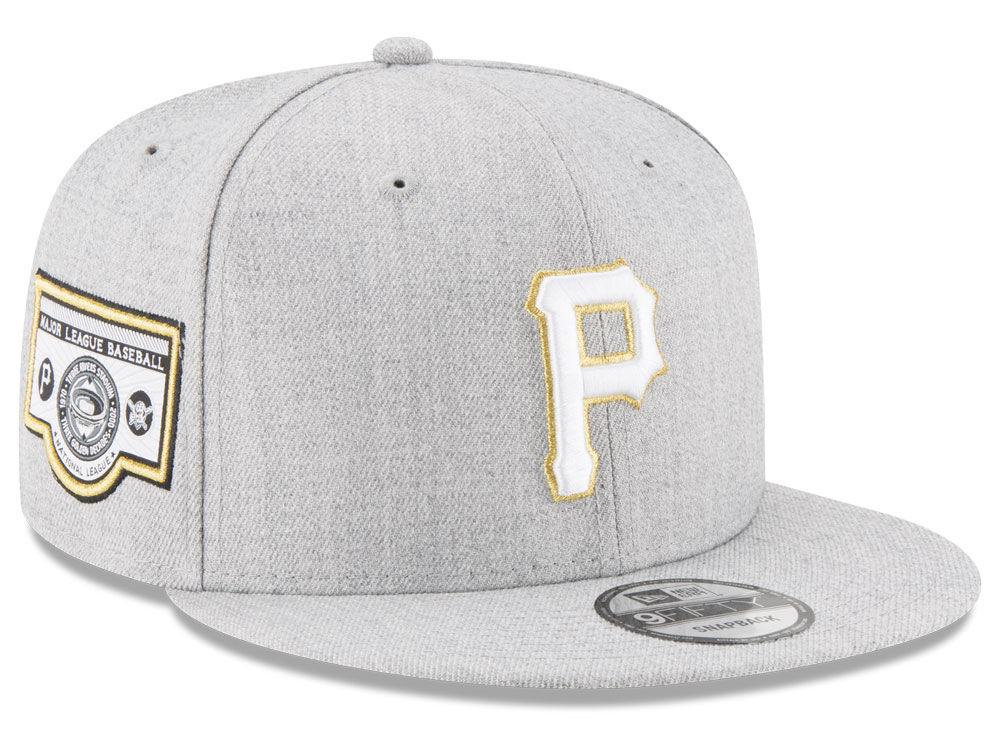 premium selection 90ef6 19a91 Pittsburgh Pirates New Era MLB Heather Metallic Patch 9FIFTY Snapback Cap  on sale