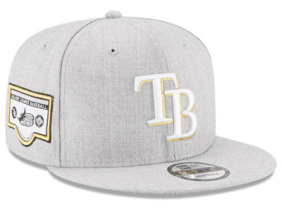 Tampa Bay Rays MLB Heather Metallic Patch 9FIFTY Snapback Cap Hats