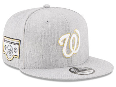 Washington Nationals MLB Heather Metallic Patch 9FIFTY Snapback Cap Hats