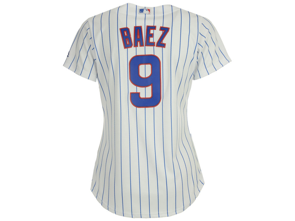 e247c77fc Chicago Cubs Javier Baez Majestic MLB Women s Cool Base Player Replica  Jersey cheap ·