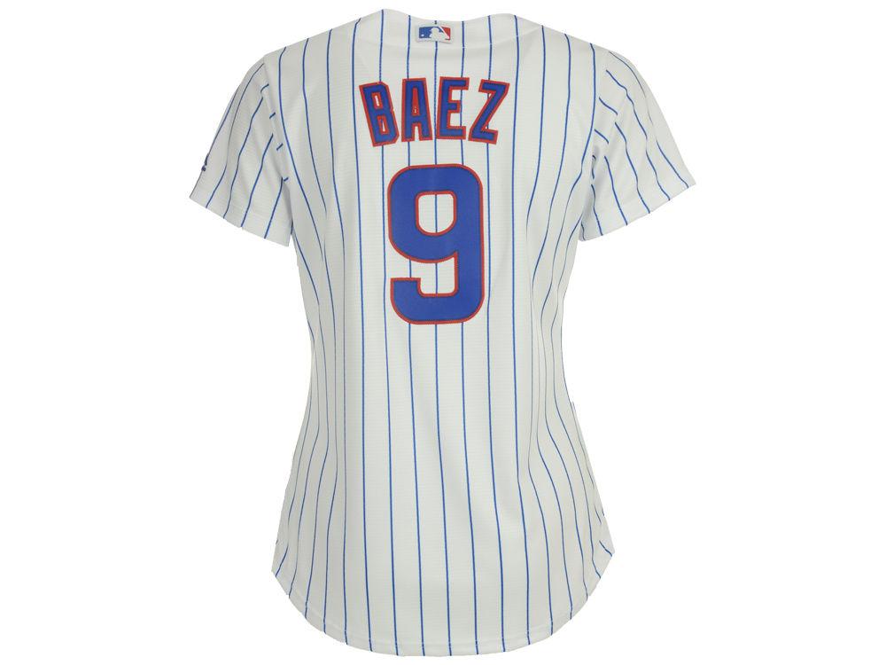 e247c77fc Chicago Cubs Javier Baez Majestic MLB Women s Cool Base Player Replica  Jersey cheap ·
