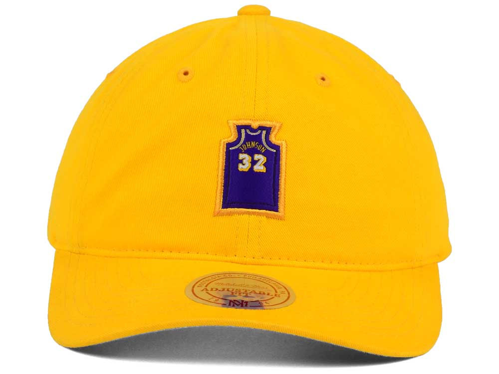 f51fce0a233cb Los Angeles Lakers Magic Johnson Mitchell and Ness Deez Jersey Dad Hats chic