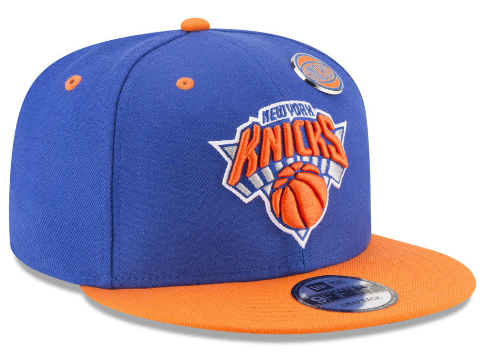 best website a011a 99cde New York Knicks New Era NBA Pintastic 9FIFTY Snapback Cap 60%OFF